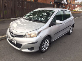 2013 63 plate Toyota Yaris TR 1.33 VVT-I Silver top of the range 12 months MOT low mileage 2 keys