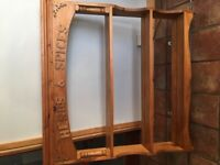 Pine plate rack/shelf unit