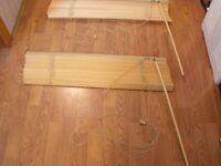 Wooden Slat Blinds 80 cm W x 162 cm Drop