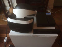 Playstation VR (PSVR), Camera, 2 Move Controllers, Charging Station and RIGS VR game.