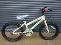 GIRLS WOODLAND CHARM BIKE THAT HAS HAD LITTLE USE & IN EXCELLENT CONDITION. (SUIT APPROX. AGE. 5+).