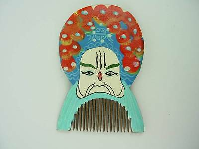 Vintage Japanese Wooden Comb Geisha-Hand Painted- GORGEOUS!