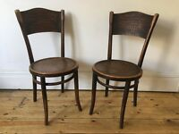 Vintage Thonet Bentwood Cafe Bistro Dining Chairs Poland Faux Croc