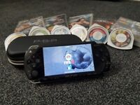 Psp with case, games and charger hardly used