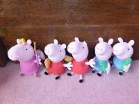 Bundle of Peppa Pig soft toys