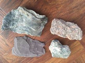 Selection of 4 fancy rocks for Fish Aquarium / Tank / Goldfish / Tropical