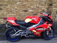 Aprilia RS 125cc 07 full system bike, Arrow exhaust system along with full bike record of service