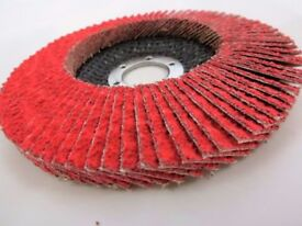 Box 10x CERAMIC Flap Disc wheels 125 Steel Wood Cast Iron Sander High Quality Gringer Proffesional
