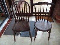 Old Kitchen or Dining chairs - at least 50 years old - good condition