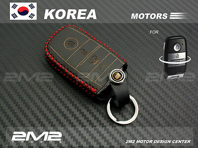 KI05-6 Leather Key fob Holder Case Chain Cover FIT For KIA Forte Forte Optima EV