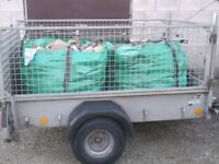 Firewood logs seasoned hardwood for woodburners etc DELIVERED/COLLECT BULK BAGS , BARROW BAGS & NETS