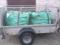 Firewood logs seasoned mixed hardwood logs free delivery in bulk bags , tipped loads or nets preston