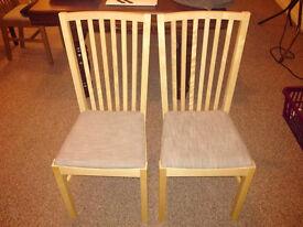 Ikea Norrnas Birchwood Dining Chairs