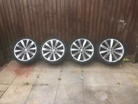 "4x Genuine vw 19"" Lugano scirocco R alloys with tyres. Vw/Audi/seat/t4 and more"