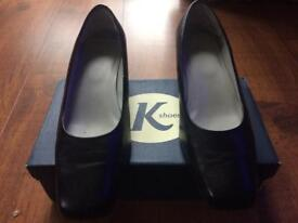 Black leather K Shoes