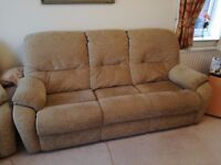 Sofa, 2 Armchairs and a footstool
