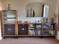 Vintage Retro Minty Sectional Library Bookcase Display Cabinets Can deliver