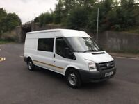 Ford transit 2009reg 2.4 tdci crew cab long wheel base crew van good runner