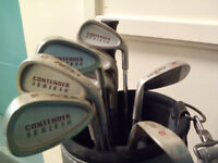 Gold clubs and bag, very good condition