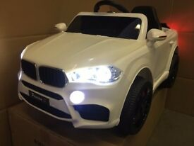 BMW X5 KIDS WHITE RIDE IN 12v CAR BRAND NEW With REMOTE CONTROL, FULLY BUILT UP