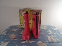 Joules Kelly Wellies in Pink size UK6