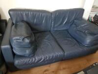 3 seater sofa pure leather £50
