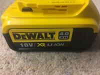 Dewalt batteries NEW X 4