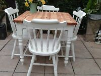 Table And Chairs Shabby Chic / Country