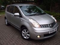EXCELLENT MODEL!!! 2008 NISSAN NOTE 1.4 16v ACENTA 5dr, FSH, LONG MOT,AA WARRANTY AVAILABLE