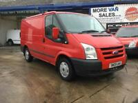 2009 red ford transit t260 swb van 2.2 tdci 129k roof rack 7m mot ready for work px welcome