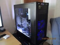 AMD water cooled 8 core 4.4GHz,SSD,3tb,GTX980 Hybrid WC PC, 4K UHD Samsung Monitor.