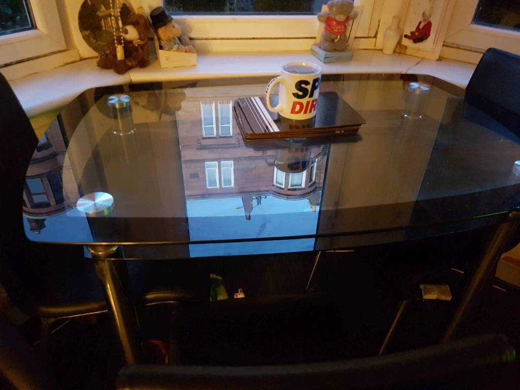 Double Glass Dining Table And Chairs Forsale