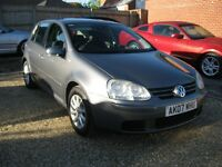 VW Golf 1.9 TDI Match 5 door hatchback . 2007 with excellent service history.
