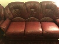 Maroon couches