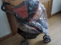 GRACO ORANGE & GREY TRAVEL SYSTEM PRAM