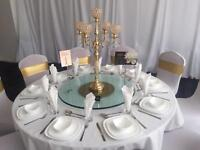 Lazy Susan wedding centrepiece decoration table