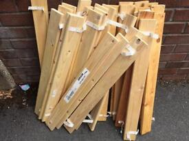Mint Condition IKEA Wood Bed base, only £5 for 2 lots