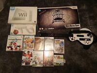 Nintendo Wii + 8 games + extras - Glasgow Area