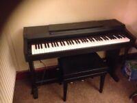 Digital Piano Yamaha Clavinova including stool and cover