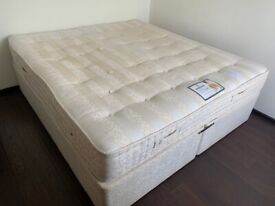 Super King Size Divan Bed with Sleepeezee Backcare Ultimate 2000 Pocket Mattress