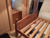 Kingsize bed frame. Solid wood.