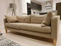 2 Ikea Karlstad Sofas for Sale (will not be available after Tuesday Nov 28th)