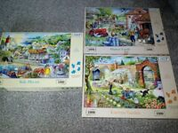 Various puzzles some brand new 1000 pieces and 725and 500 from £2