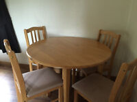 dropleaf dining table and chairs