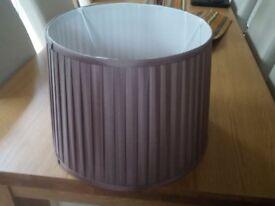 Faux silk beige lamp shade