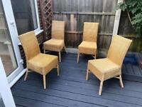 4 Rattan Garden Chairs
