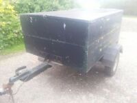 GALVANISED BOX TRAILER, WITH LOCKABLE LID