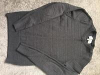 Mens next dark grey knitwear jumper size xs