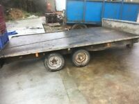 2 Tonne Trailer 12 x 7 feet.Twin Axel- Braked - Very strong. made by a UK fabrication company