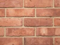 Smooth Red Brick | Old Water-Struck Style | Genuine Handmade Clay | PACK OF 10